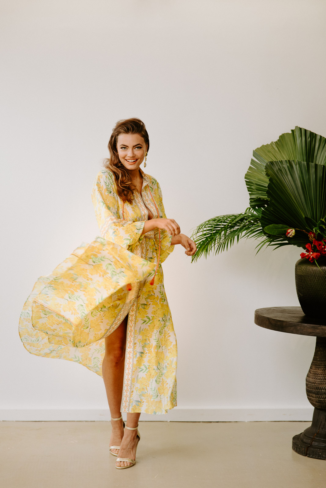 THE NEW LEMONARDA SILK COTTON MAXI DRESS
