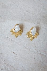 ROXIA PEARL LEAF EARRINGS