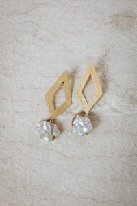 LARGE PEARL DIAMOND EARRINGS
