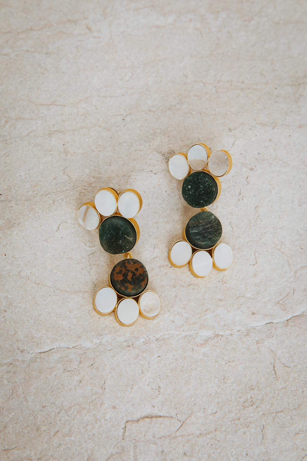 JIMENA DEEP EMERALD EARRINGS