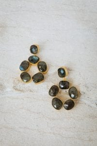 PIA CIRCLE PEBBLE EARRINGS