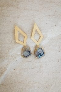 BLUE QUEENIE EARRINGS
