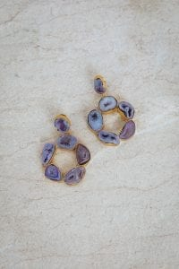 LILAC HAZE STONE EARRINGS