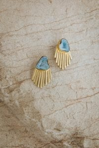 OTTOLIE BLUE STONE EARRINGS