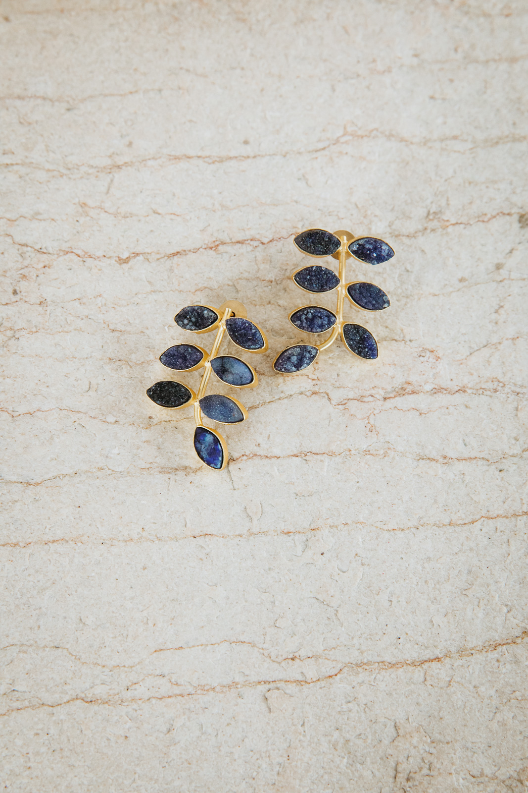 BLUE STONE JUNGLE EARRINGS