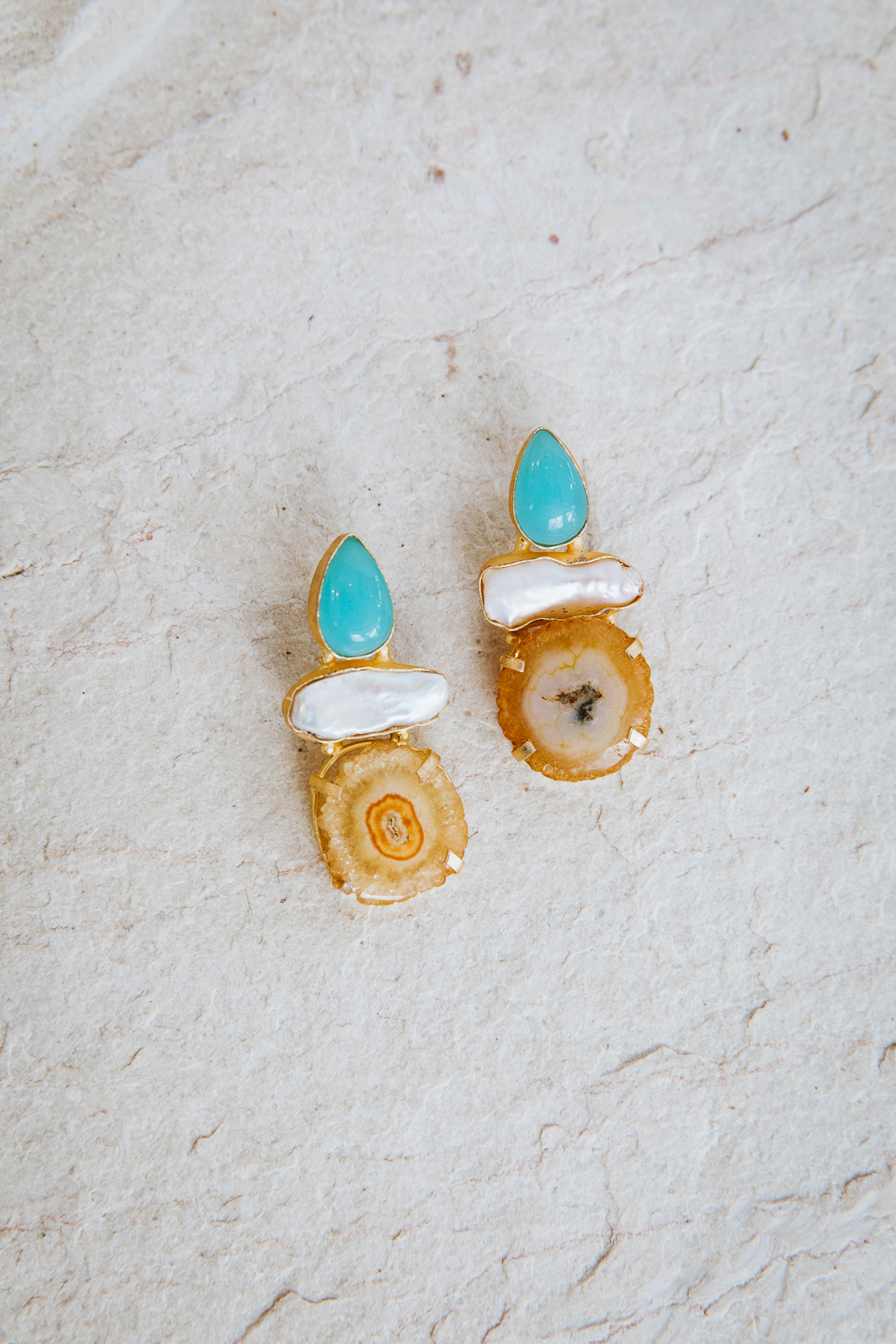 BABY BLUE VINCENZA EARRINGS