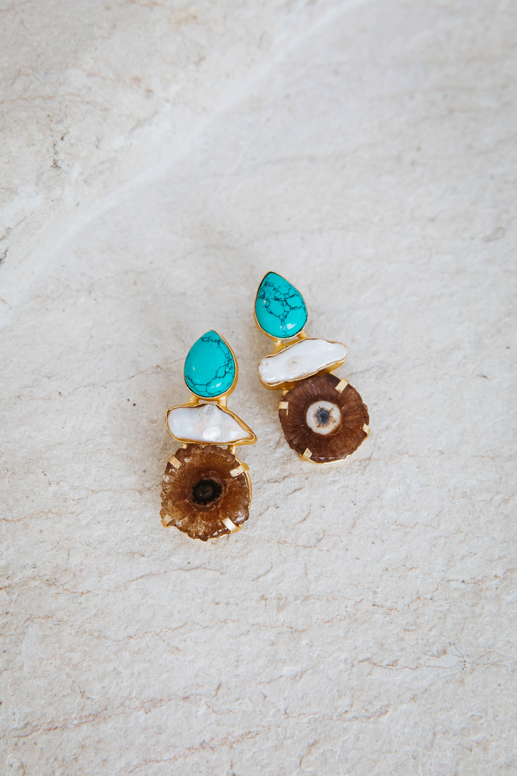 TURQUOISE VINCENZA EARRINGS