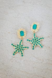 TURQUOISE STARFISH EARRINGS