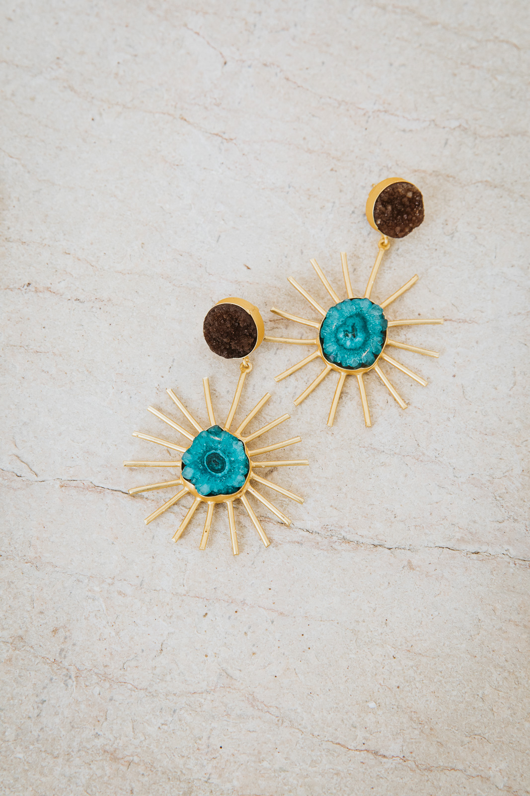 TURQUOISE ECLIPSE EARRINGS