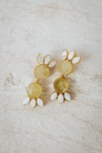 LEMON DOUBLE TIER EARRINGS