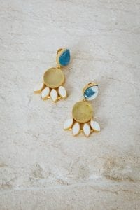 LOLA LEMON AND PEARL EARRINGS