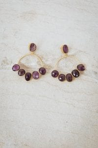 PURPLE HAZE HALF FLOWER EARRINGS