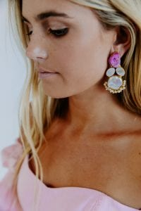 PINK TREASURE COVE EARRINGS